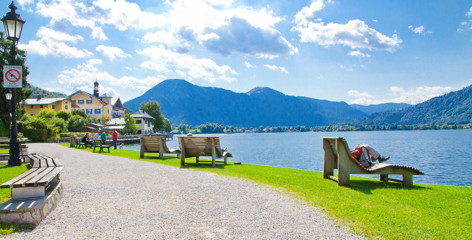 Relaxing at Tegernsee Germany