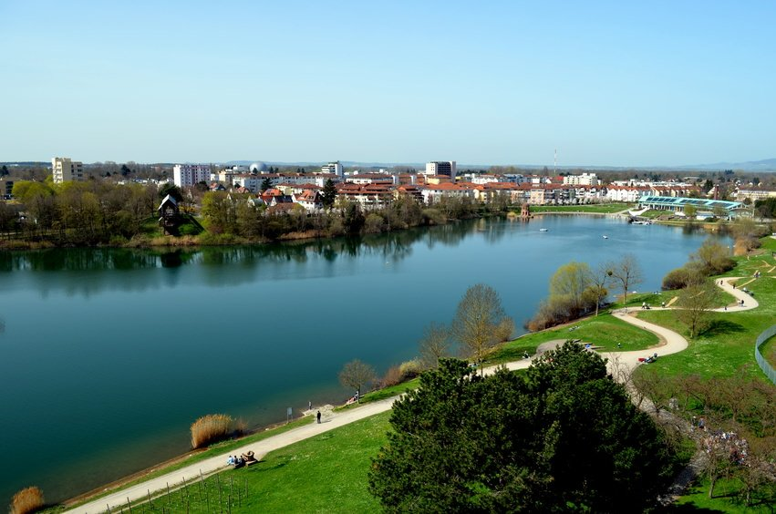 Freiburg Seepark during Spring