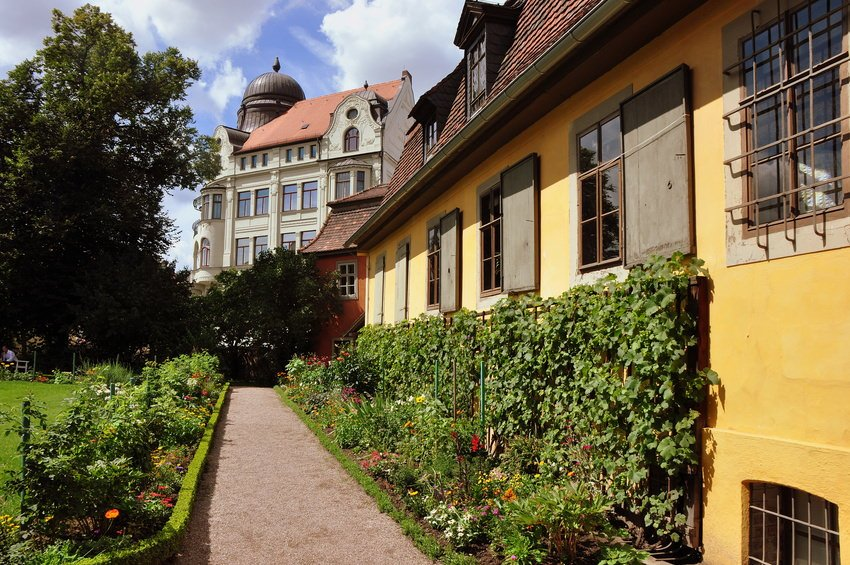Garden behind the Goethe House in Weimar