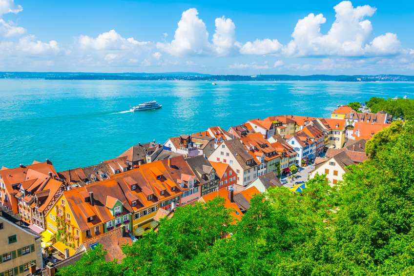Meersburg with Lake Constance