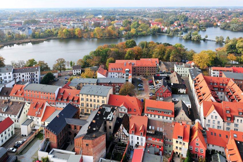 Stralsund aerial view