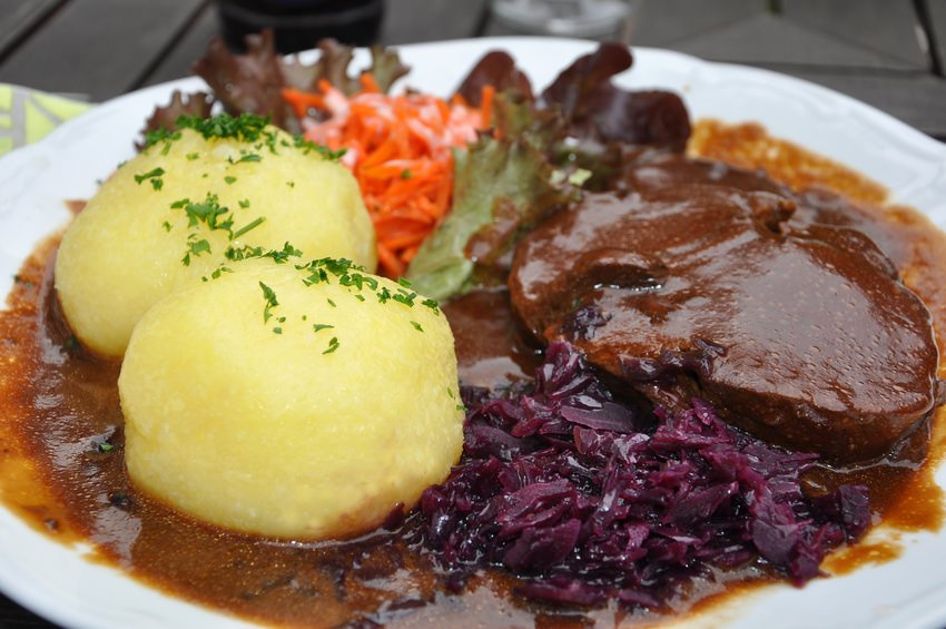 Thuringian Dumplings with Sauerbraten
