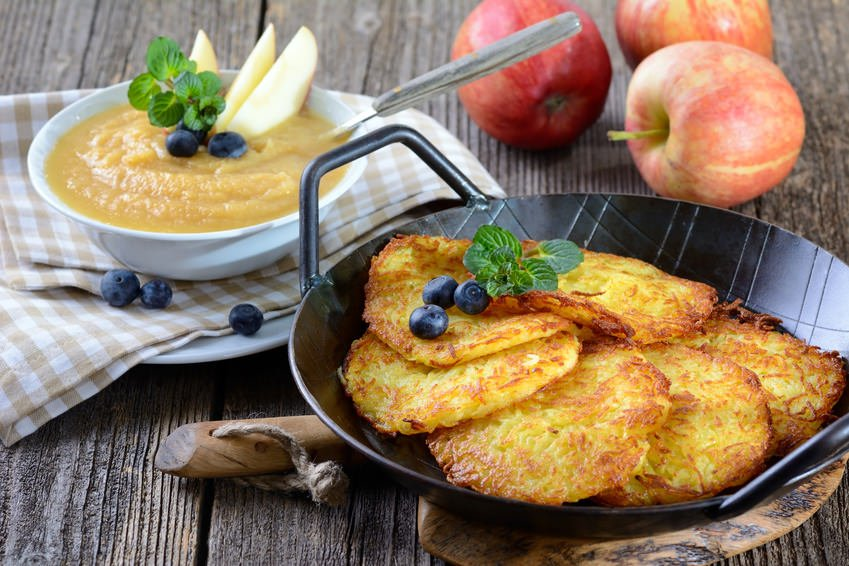 Potato Pancakes with Applesauce