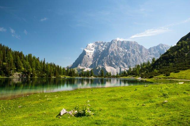 Zugspitze and Seebensee