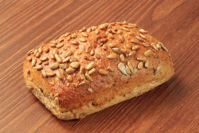 Bread roll with sunflower seeds