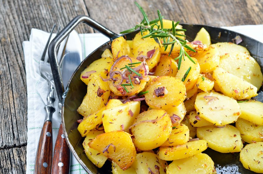 German fried potatoes Bratkartoffeln