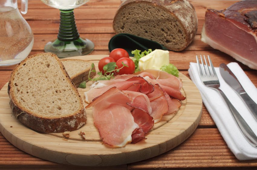 German Bread with cold cuts