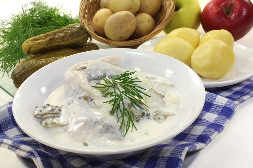 German Herring in cream
