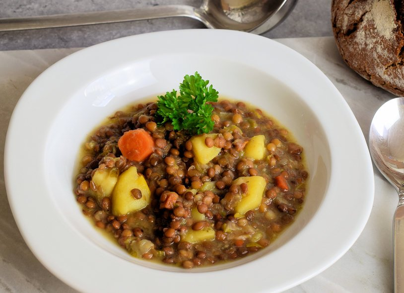 German Lentil soup Linsensuppe