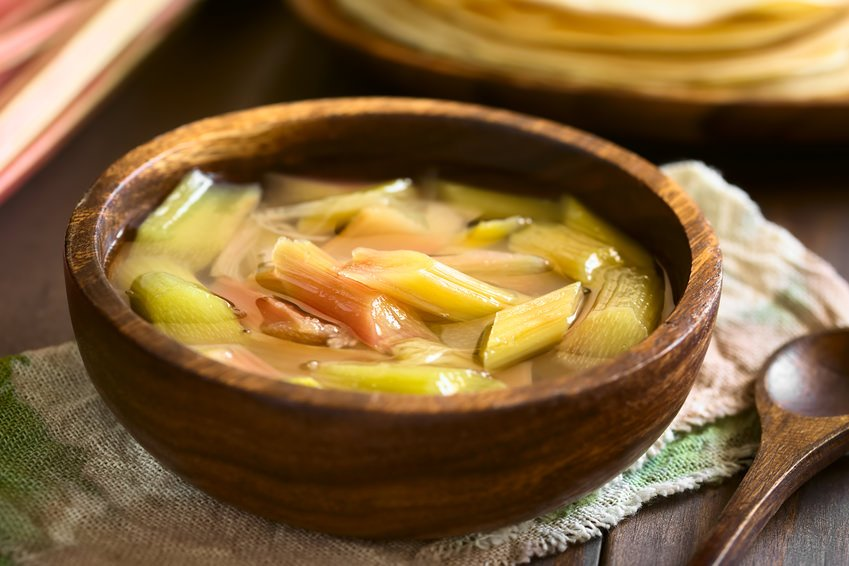 German Rhubarb soup