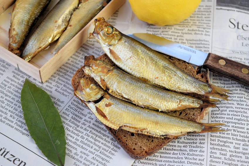 German Sprats on Bread