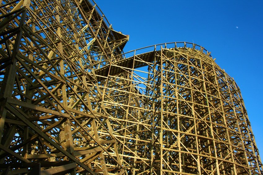 Wooden Rollercoaster at Europa-Park Rust